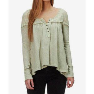 Free People Down Under Henley in Green